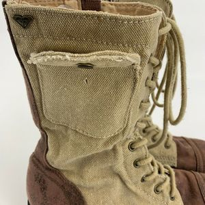 ROXY Shoes - Roxy Tan Brown Combat Up Boots Size 7